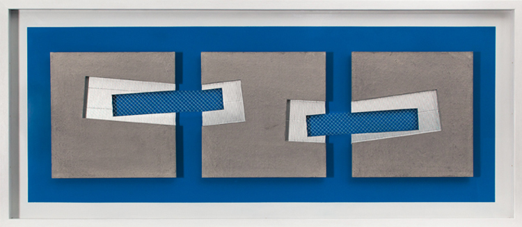 Blue and Grey Construction 2012 1225x525mm