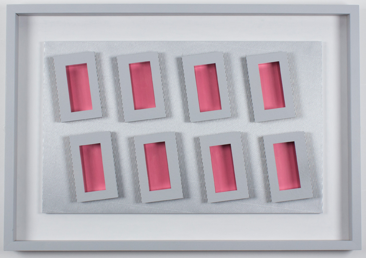 Eight Pink Rectangles 2014