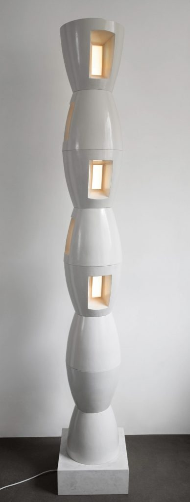 Lit Column for Brancusi 2005-6 2200 x 345 x 345mm