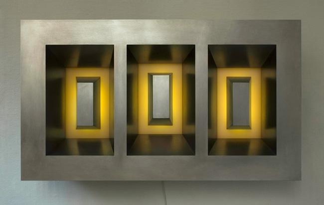 Three Yellow Eclipses 2006-7 895 x 515 x 190mm