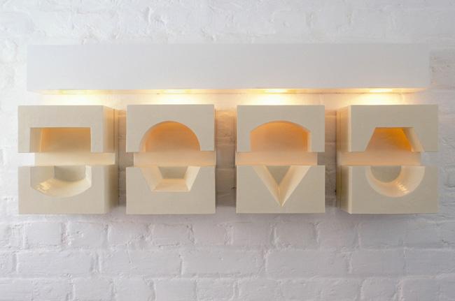 Four Lit Spaces 2002-3 1070 x 445 x 150mm