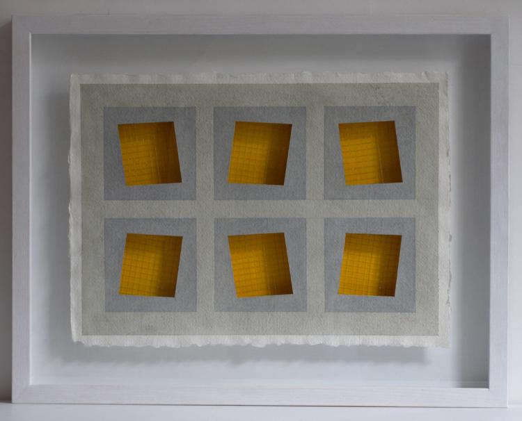 Six Yellow Constructed Windows 2011 540x425mm