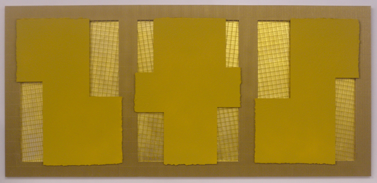Yellow and Gold Relief 2013 1200x640mm