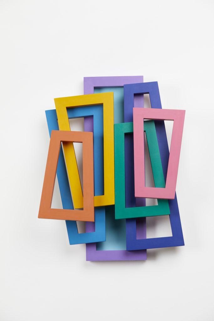 Seven Coloured Trapezoids 2019 48 X 36 X 11cm